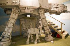Star Wars AT-AT bunk bed construction Source by hdgarlick Boy Room, Kids Room, Star Wars Furniture, Star Wars Bedroom, Star Wars Decor, Kids Bunk Beds, Star Wars Kids, Star Wars Party, Stars