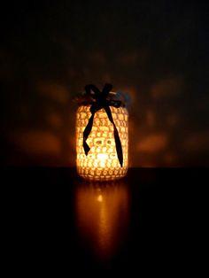 crochet jar cosy / DIY cozy