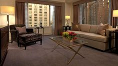Luxury hotels in Chicago downtown, with a thoughtful and well laid out guest experience overlooking Michigan Avenue, The Grand Deluxe Suite is a defining abode in the heart of Chicago. Best Hotels, Luxury Hotels, Peninsula Chicago, Hotel Suites, Travel And Leisure, Wuxi, Room, Palaces, Furniture