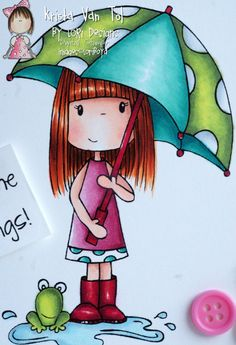 umbrellas by quenalbertini - cute girl with umbrella-via craftylittlepigtails.blogspot...
