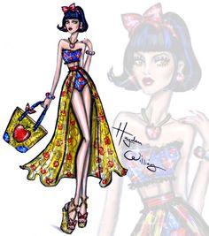 Hayden Williams Fashion Illustrations: Disney Divas 'Beach Beauties' by Hayden Williams: Snow White Disney Princess Fashion, Disney Princess Art, Princess Style, Disney Style, Disney Art, Hayden Williams, Moda Disney, Disney Mode, Disney Bound