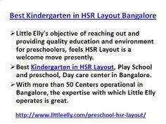 Preschools in HSR Layout, Play School and Kindergarten