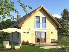 Projekt domu Decorum - widok 1 Malaga, Gazebo, Shed, Outdoor Structures, Studio, Portal, Home Decor, Kiosk, Decoration Home