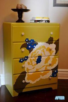 Refinished dresser. Painted furniture. Dresser makeover. Mine!!