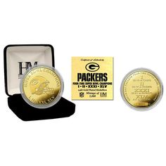 Green Bay Packers 4-Time Super Bowl Champions 24KT Gold Coin Nhl be9b71d24