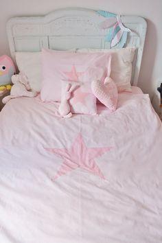 Dekbedovertrek Pink Star - roze - ster - zacht roze