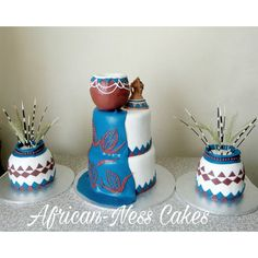 African-Ness Cakes bakes and decorates cakes for all occassions Traditional Wedding Decor, African Traditional Wedding, Cakes For Women, Cakes For Boys, Bridal Shower Cakes, Baby Shower Cakes, African Wedding Cakes, African Cake, Themed Wedding Cakes