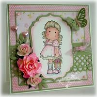 My Magnolia Cards :: magnolia-tilda-easter-baske.jpg picture by - Photobucket Z Cards, Card Tags, Magnolia Colors, Shabby, Magnolia Stamps, Copics, Baby Prints, Scrapbook Cards, Homemade Cards