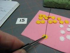 Making tiny daisies using fiskars punch - bjl