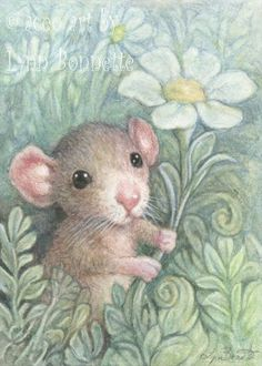 "Art by Lynn Bonnette: ""Straightening the Daisies"""