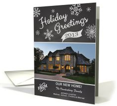 Chalkboard 2013 Holiday Greetings New Home custom photo by Simply Put by Robin