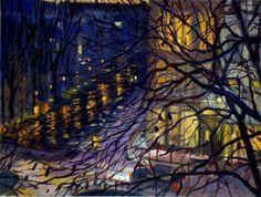 """huariqueje: """"Corner Prinsengracht-Looiersgracht, Amsterdam - Kris Spinhoven , 2006 Dutch, b.1959- Oil on canvas, 19 x 25 cm. """""""