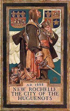J.C. Leyendecker, illustration cover art for New Rochelle Booklet.