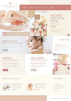 Template 44309 - Wedding Planner Joomla Template with Gallery and Blog