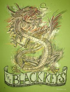 Ground Up Press: Artwork by Dan Grzeca — The Black Keys Brixton Academy London 2008