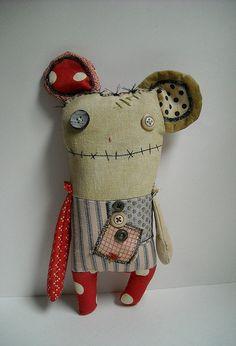 Elspeth Monster Mouse by junkerjane, via Flickr