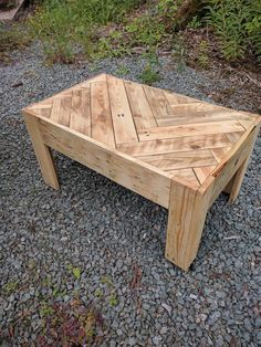 My first pallet table watcha think woodworkdesign Wood Pallet Tables, Wooden Pallet Projects, Wooden Pallet Furniture, Rustic Furniture, Wood Pallets, Pallet Ideas, Diy Furniture, Timber Table, Beginner Woodworking Projects