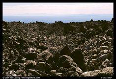 Lava fields, Glass Mountain. California, USA (color)