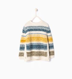 ZARA - COLLECTION AW15 - Multi striped sweater with side vents