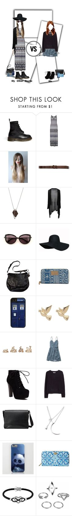 """""""My Best Friend's Style Vs. My Style"""" by elmoknowswhereyoulive ❤ liked on Polyvore featuring Dr. Martens, Billie & Blossom, Abercrombie & Fitch, Monique Péan, Wildfox, Coach, Vans, CellPowerCases, M&Co and Forever 21"""