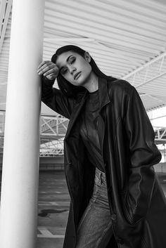 Photo collection by smallerOcean Parking Lot, Dawn, Raincoat, Goth, Leather Jacket, Photoshoot, Jackets, Collection, Style