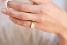 A classic signet ring for women. A dainty yellow gold signet ring. This ring will be especially beautiful as a pinky ring will look great on any finger you choose to wear it. The ring is not hollowed and has a shiny finish, also on the inside. Dainty Gold Rings, White Gold Jewelry, 14k Gold Ring, Silver Rings, Gold Jewellery, Fashion Jewellery, Diamond Jewelry, 18k Gold, Pinky Rings For Women