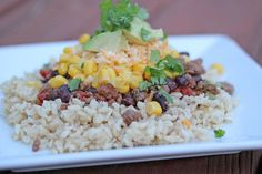 Mexican Stack-Es, Also Known As Mexican Haystacks | 5DollarDinners.com #recipes