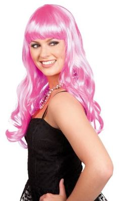 Parrucca Party Chique gelida lunghi capelli rosa