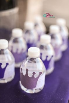 Sofia the first themed water bottles #parties #sofiathefirst