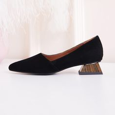 Chiko Edelburga Sculptural Heel Pumps feature pointy toe, easy slip on and off, sculptured block heels with rubber sole. Pumps Heels, Flats, Flat Shoes, Shoes Women, Spring Outfits, Block Heels, Slip On, Loafers, Sculpture