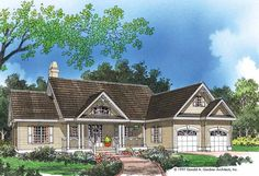 Country House Plan with 1517 Square Feet and 3 Bedrooms(s) from Dream Home Source | House Plan Code DHSW04377