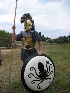 Hoplite of Portis Ancient Armor, Medieval Armor, Medieval Fantasy, Greek History, Ancient History, Greco Persian Wars, Classical Greece, Rome Antique, Greek Warrior