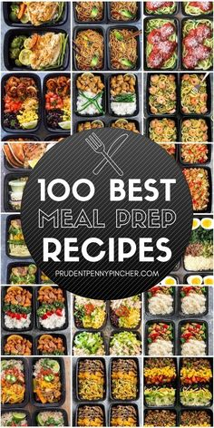 100 Best Meal Prep Recipes Prepare your meals for the week with these healthy and easy meal prep recipes. These recipes are perfect for busy people because you can cook them on Sunday and have ready-to-eat meals for the rest Easy Healthy Meal Prep, Best Meal Prep, Lunch Meal Prep, Meal Prep Bowls, Meal Prep For The Week, Easy Healthy Recipes, Healthy Drinks, Lunch Recipes, Breakfast Recipes