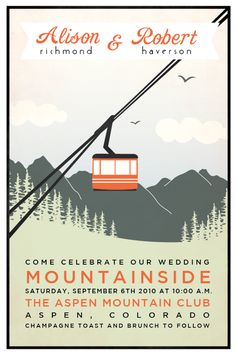 Not only do I love the invite, I love the location. I dream of getting married in Aspen.