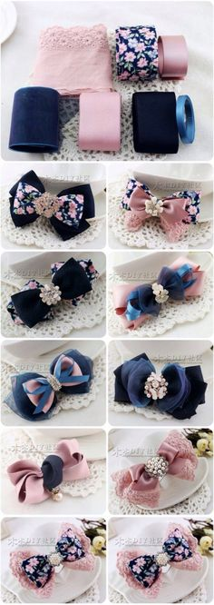 Discover thousands of images about cute DIY bow tutorial Ribbon Art, Diy Ribbon, Ribbon Crafts, Ribbon Bows, Ribbons, Diy Crafts, Diy Hair Bows, Diy Bow, Diy Headband