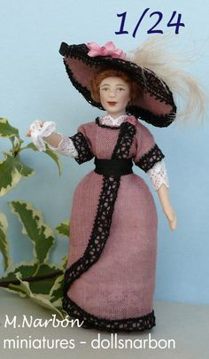 porcelain doll, scale half inch, to order