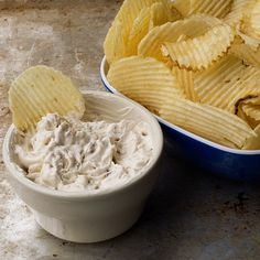 Caramelized Onion Dip!  I usually make a quick, easy onion dip using Lipton onion soup mix.  But, if you have a little more time, this from scratch version is really flavorful and impressive.