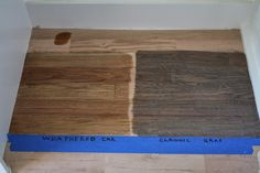 Duraseal Weathered Oak and Classic Grey (on red oak)
