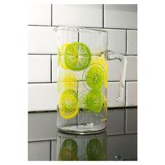 Pyrex Citrus/Lemon/Lime Slice Glass Pitcher #housewares #glass #lemon #lime #citrus #green #yellow #pyrex #pitcher