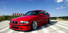 Very nice Hellrot BMW e36 compact on cult classic BBS RF wheels