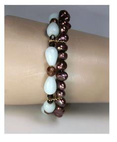 Amasonitt og ferskvanns perler
