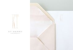 """KT Merry by Stitch Design Co. I like the texture of the """"KT"""" paired with type beneath"""
