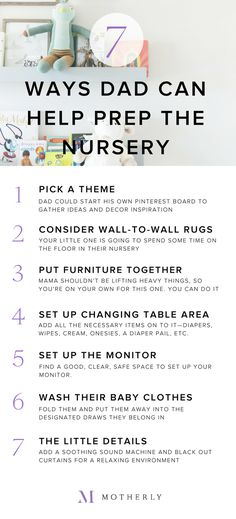 7 ways dad can help prepare the baby's nursery Pregnancy Guide, Little Fish, Nine Months, New Moms, Breastfeeding, Baby Room, Nursery Decor, Announcement, Prepping