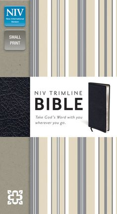 Trimline Bible-NIV. - A conveniently sized Bible perfect for pocket or purse, available in button-flap editions to protect pages from damage - Perspectives from the Bible section, including: What to Read When Seeking #God's Direction and What the #Bible says about Compassion - Complete NIV text in double-column format, with presentation page