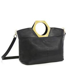 Large Goldie Hex Handle Tote by Jonathan Adler