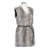 Faux Fur Vest with Skinny Tie Belt 156502183 | Career | Women | Burlington Coat Factory