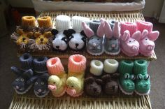 cute infant knitted animal booties