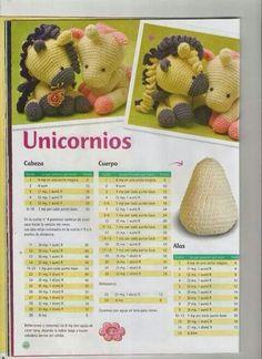 This Pin was discovered by Pav Crochet Pony, Poney Crochet, Crochet Unicorn, Crochet Chart, Cute Crochet, Disney Crochet Patterns, Crochet Doll Pattern, Amigurumi Patterns, Baby Knitting Patterns