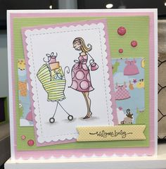 Created by Me Cristina Victorino Raposo using a Stampingbella stamp to create the baby shower card Baby Shower Cards, Stamp, Create, Stamps