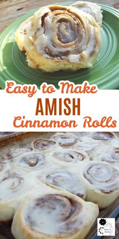 These Amish Cinnamon Rolls are an easy to make family favorite. They're so good you'll want to make a double batch! Enjoy them for weekend brunch or breakfast with their delicious, sweet icing. Cinnamon Roll Icing, Cinnabon Cinnamon Rolls, Vegan Cinnamon Rolls, Amish Cinnamon Roll Recipe, Homemade Cinnamon Rolls, Pan Amish, Amish Bread Recipes, Cinnabon Recipe, Cupcakes
